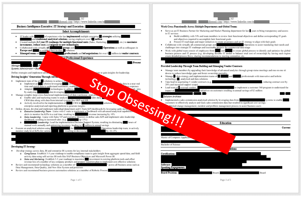 3 Reasons To Put Your Resume Down